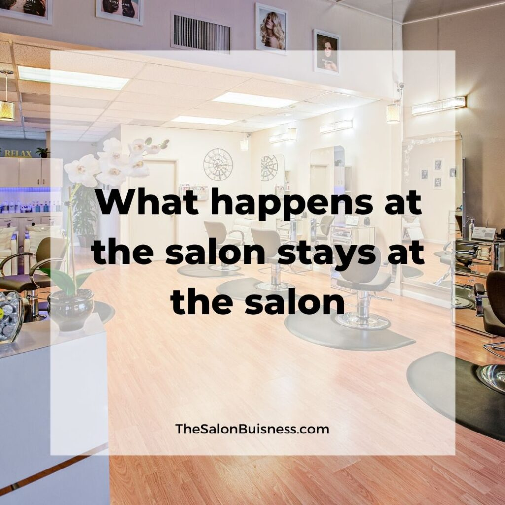 salon quotes   -  picture of empty hair salon