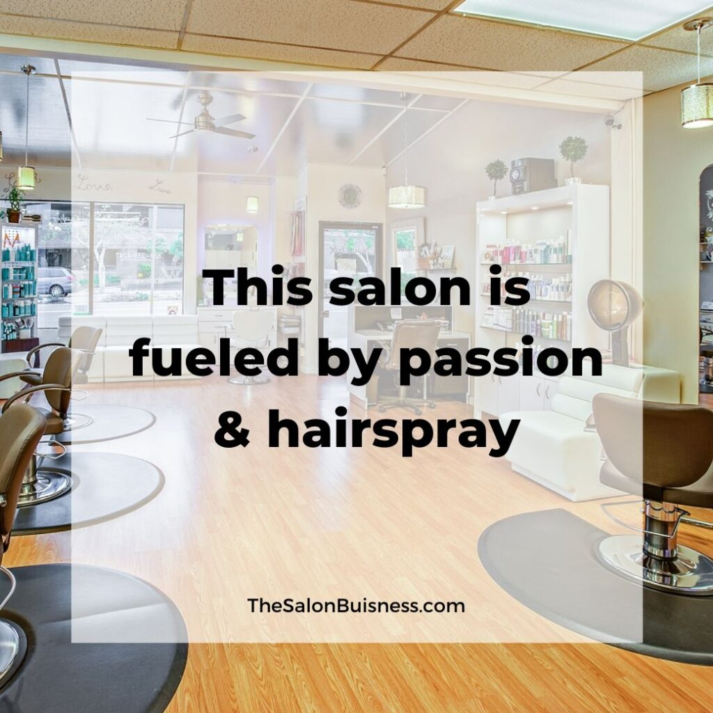 salon quotes   -  picture of empty salon building