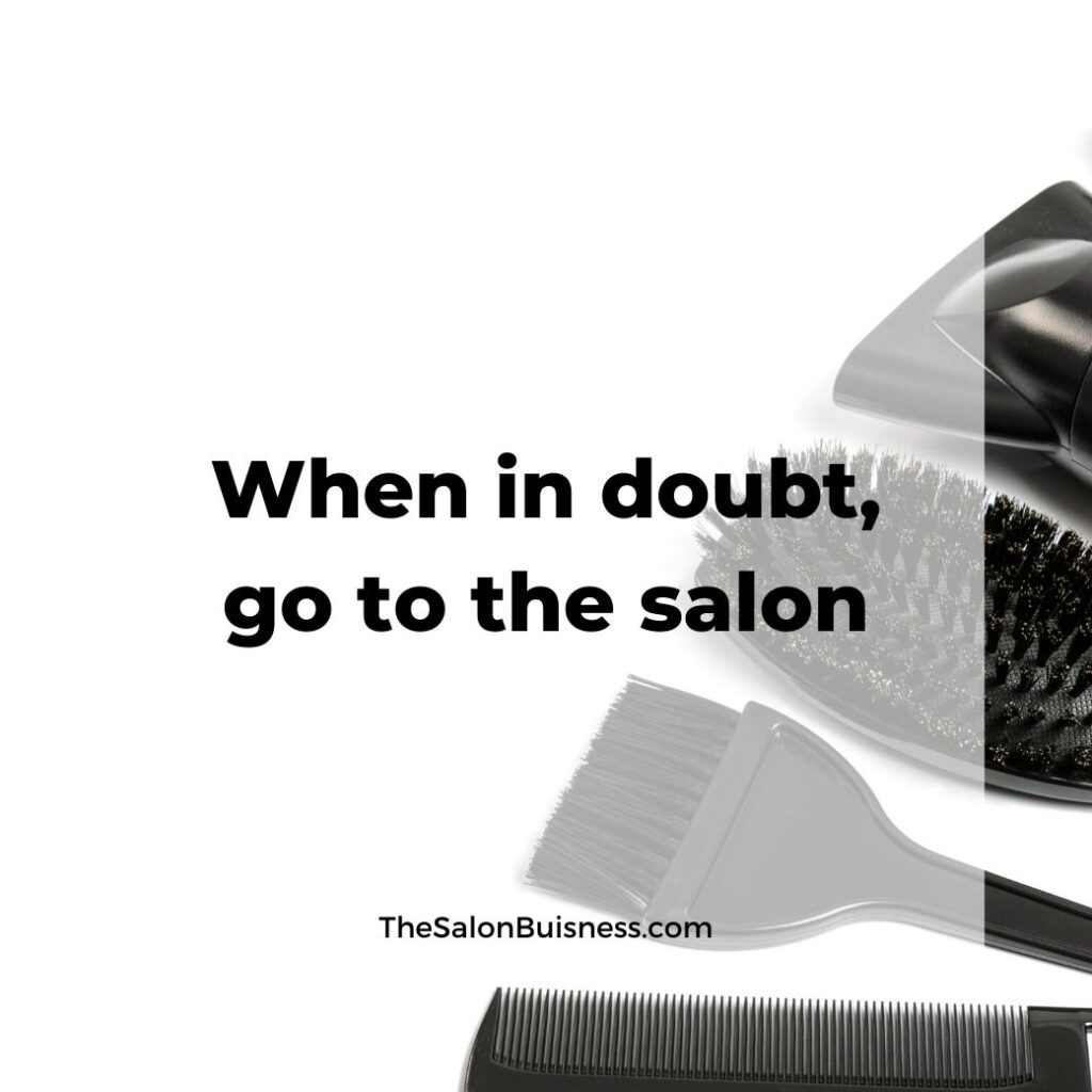 salon quotes   -  picture of salon tools - hair brush, paint brush, comb