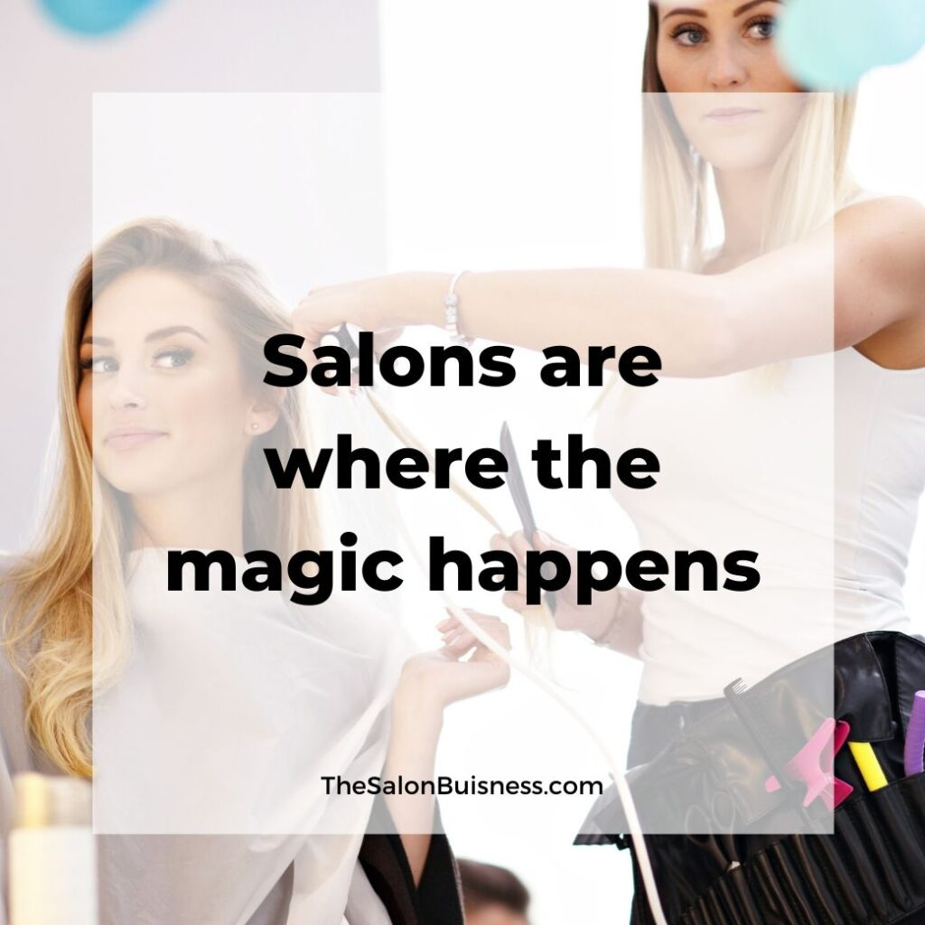 salon quotes   -  woman with blond hair cutting blond woman hair