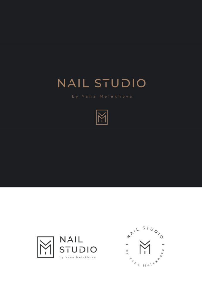 nail studio salon logo template
