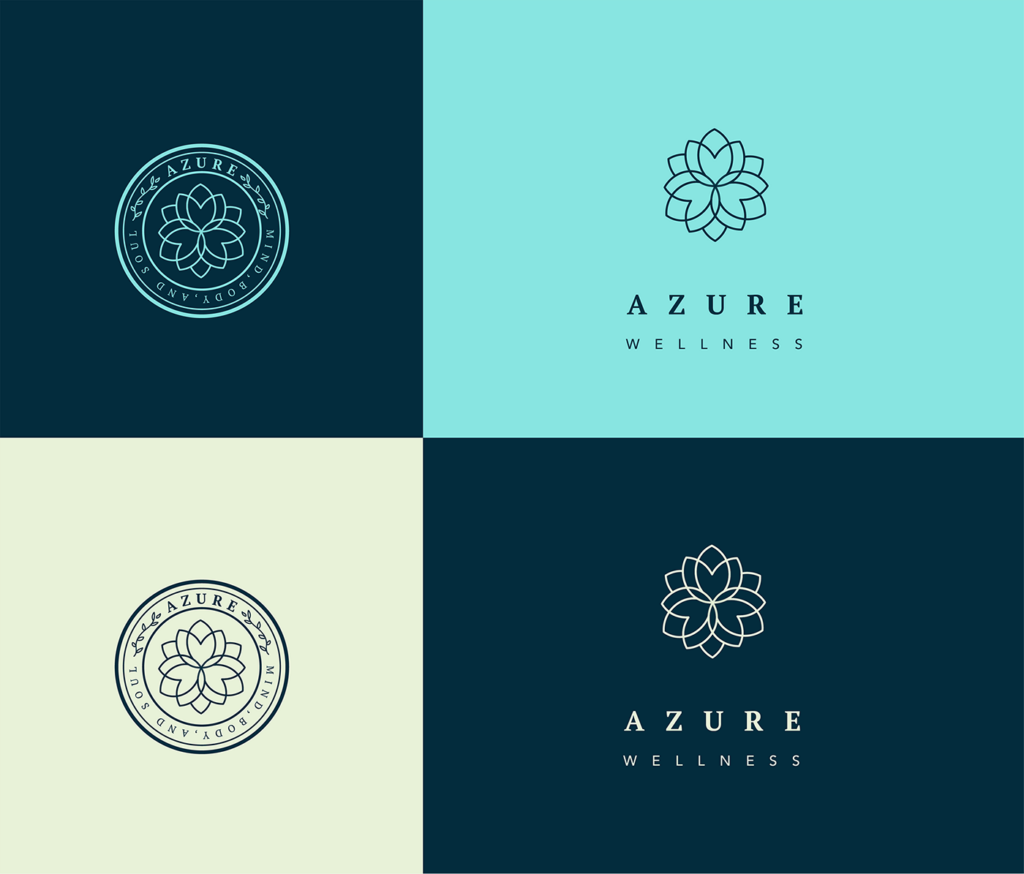 azure wellness spa signage ideas