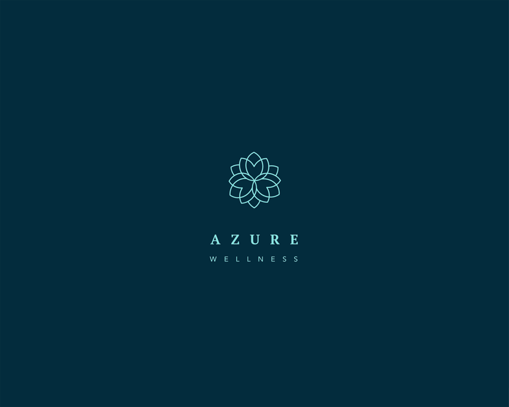 azure wellness spa logo and design