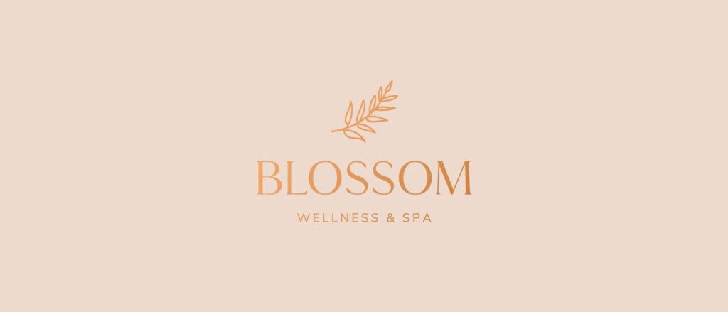 blossom wellness spa branding