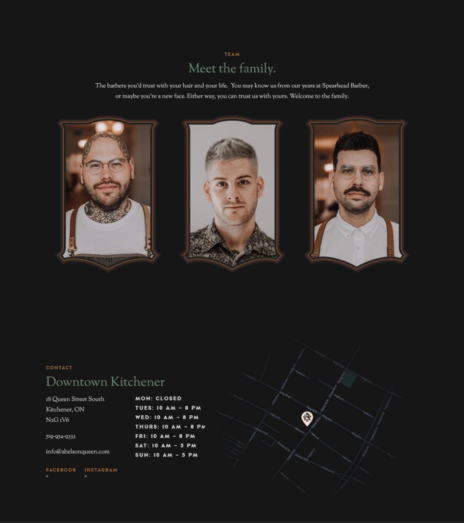 Website: Abel's on Queen Barbershop