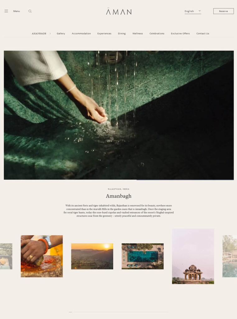 website design Amanbagh Spa Resort