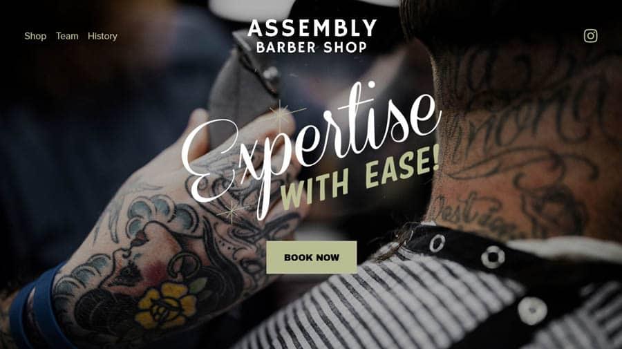 Website: Assembly Barbershop