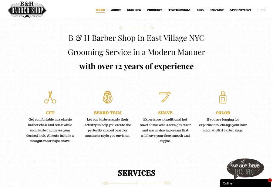 Website: B&H Barber Shop