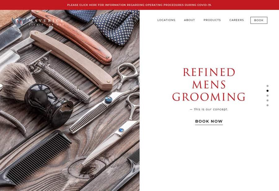 Website: Maverick Barbers for Men