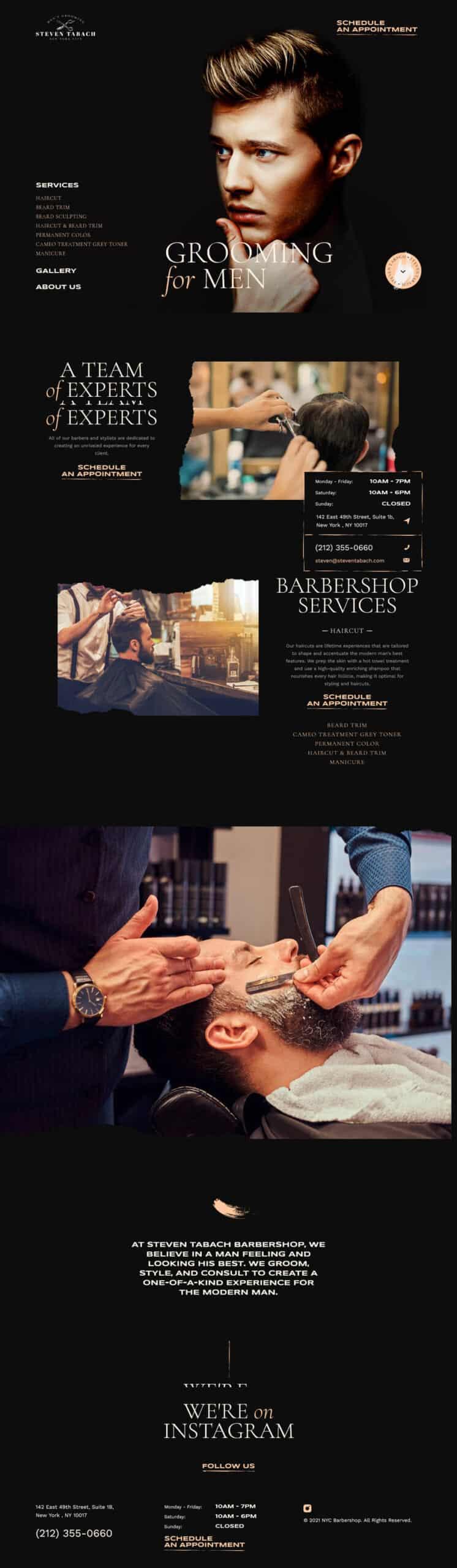 Barbershop Website Design: Abel's on Queen Barbershop