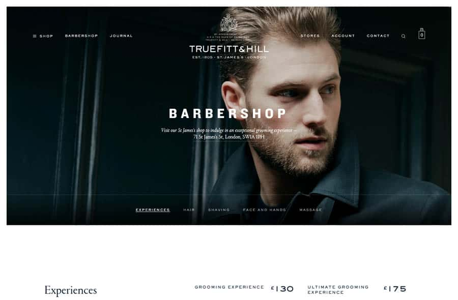 Website: Truefitt&Hill Barbershop