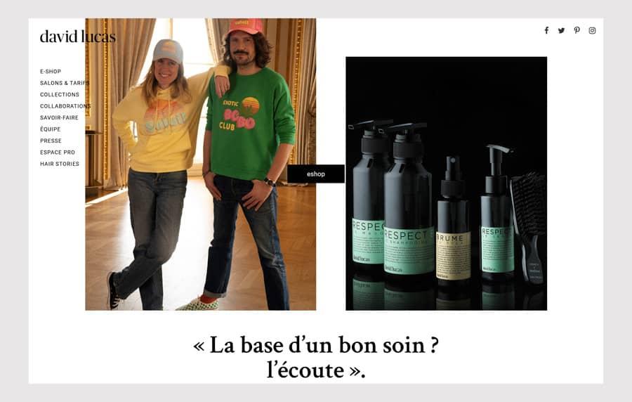 David Lucas Hair Salon website design