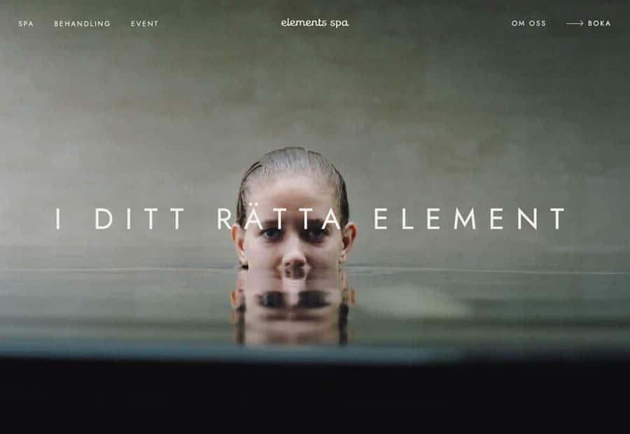 website design Elements Spa