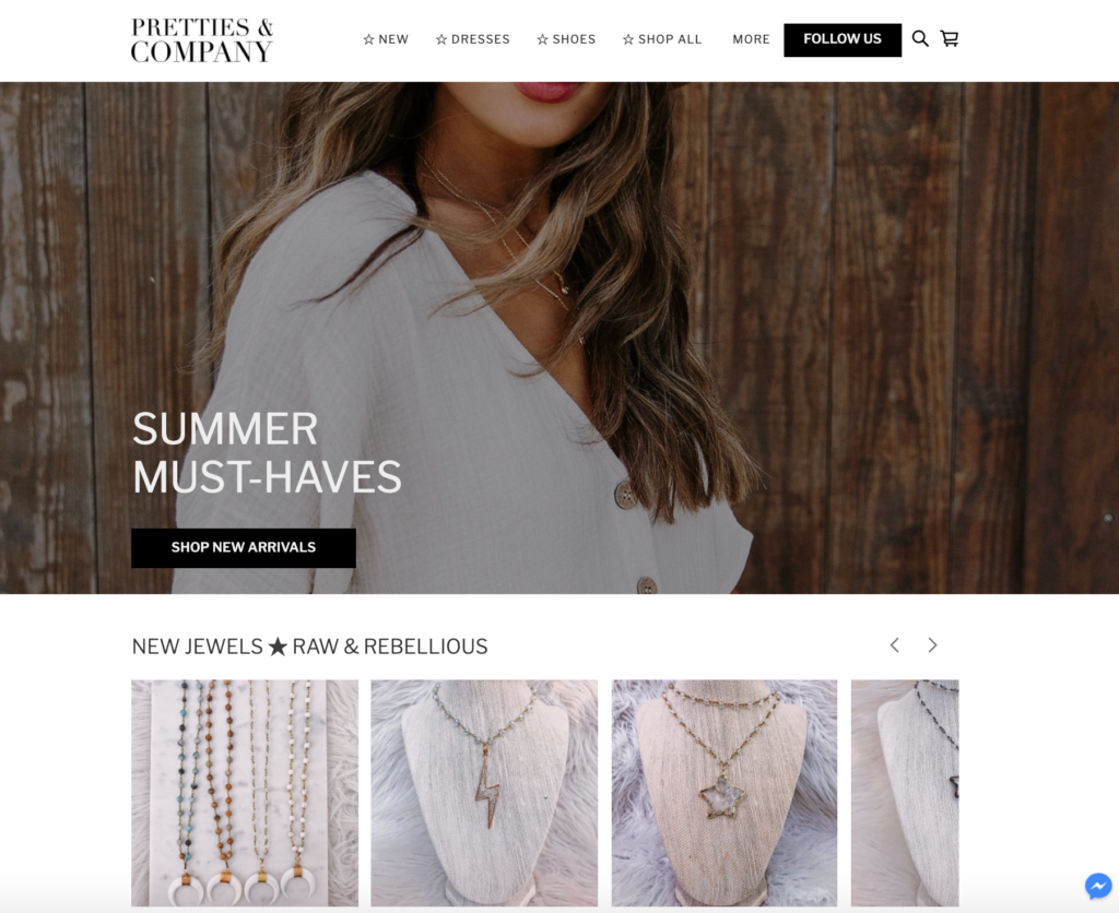 Online store built with Square Online