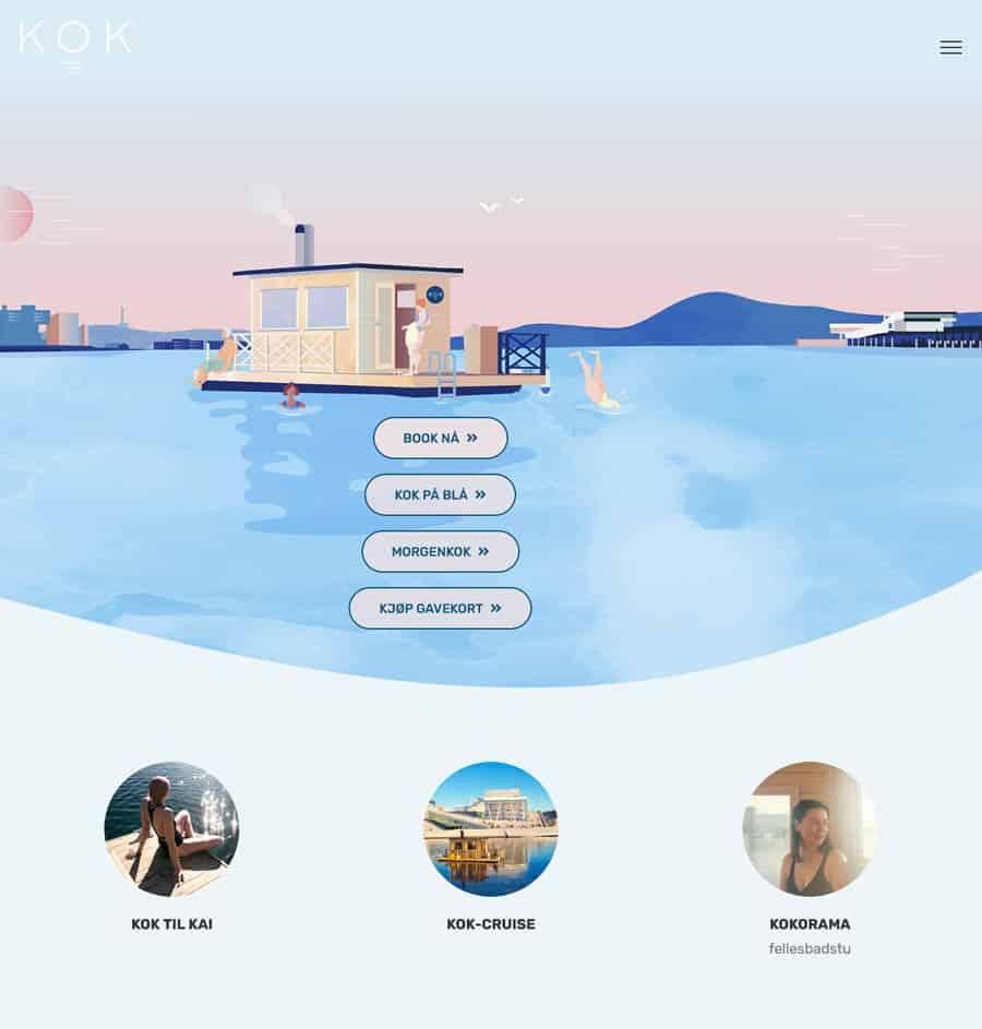 Spa website design KOK Oslo
