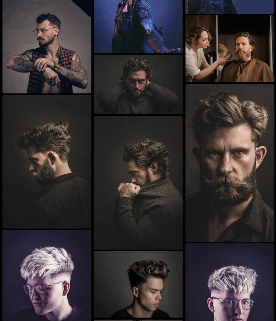 Gro Hair salon website design example