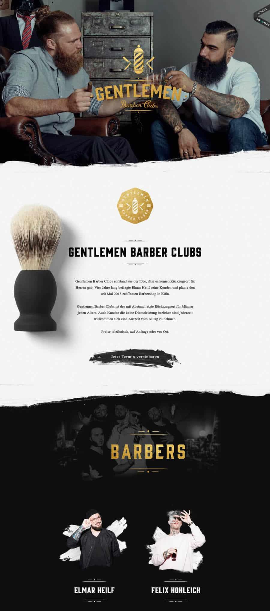Website: Gentlemen Barber Clubs