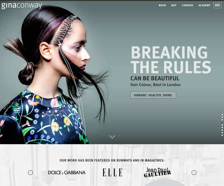 Gina Conway Salons - website design