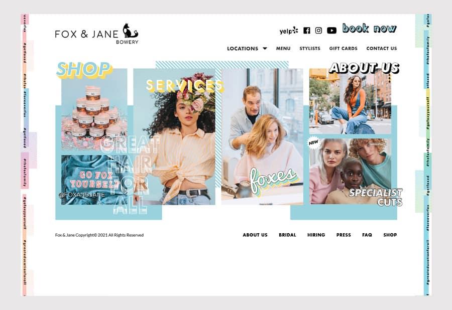 Fox & Jane Salon - Hair salon website design example