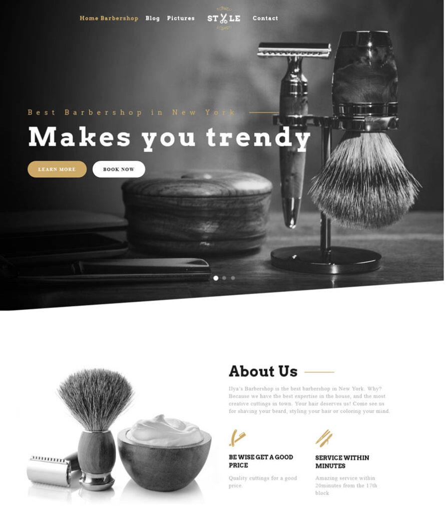 Website: Ilya Barbershop