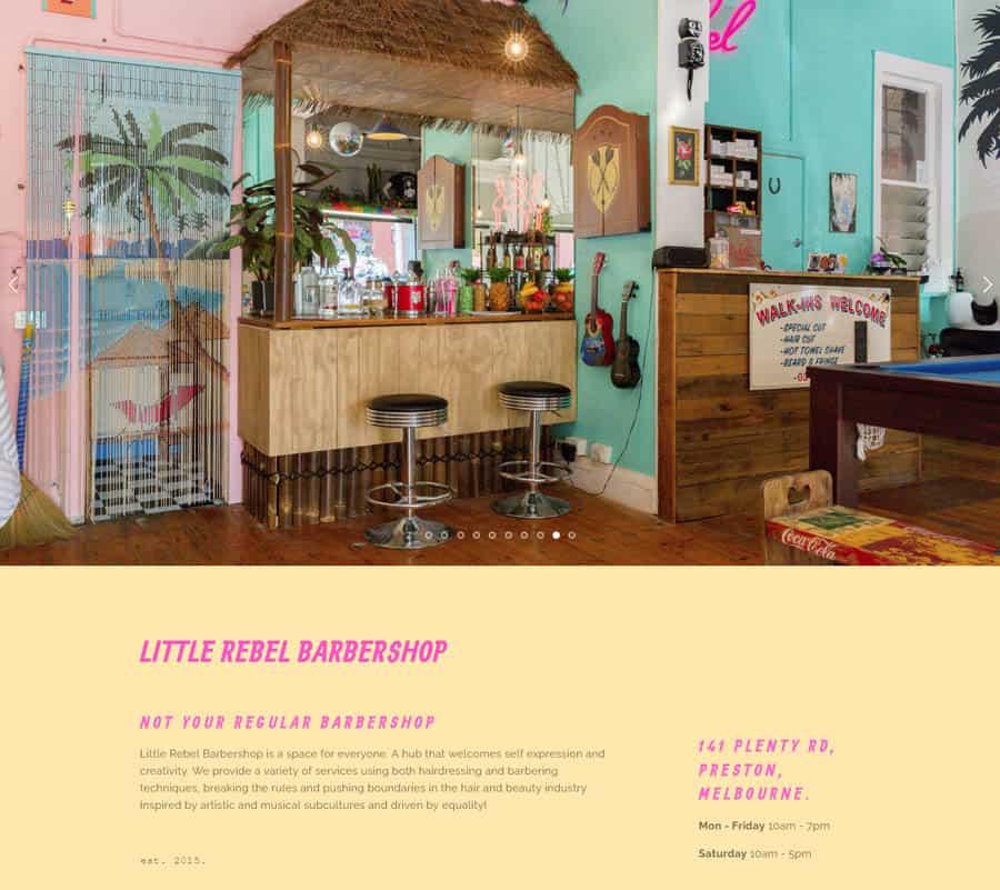 Website: Little Rebel Barbershop
