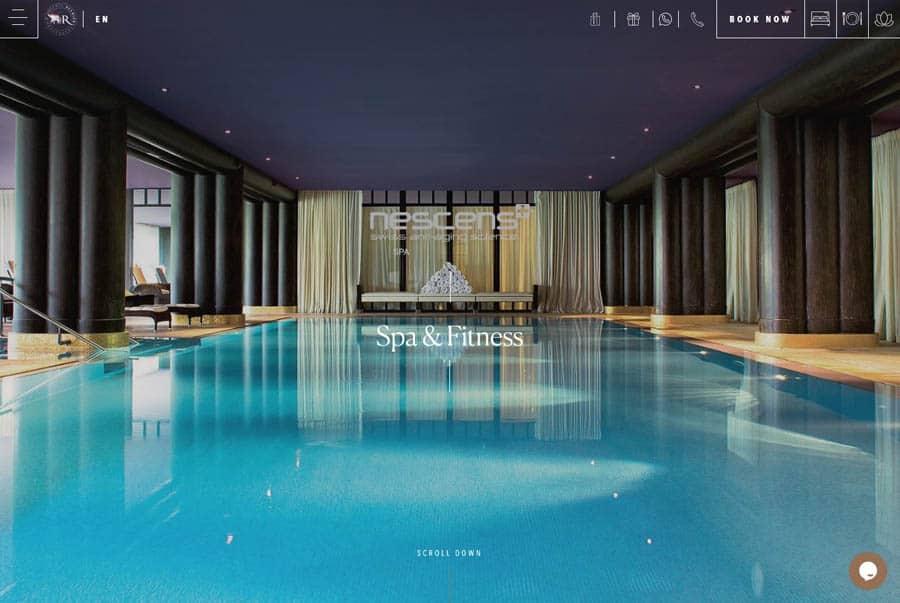 Spa website design La Réserve Geneva