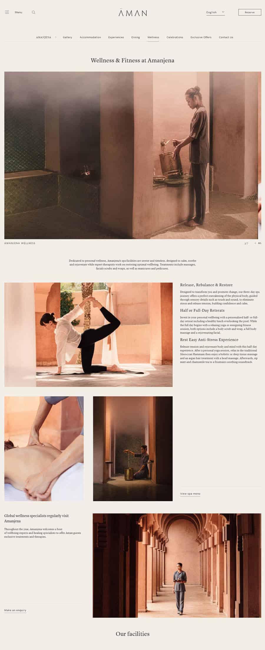 website design Amanjena Luxury Spa in Marrakech
