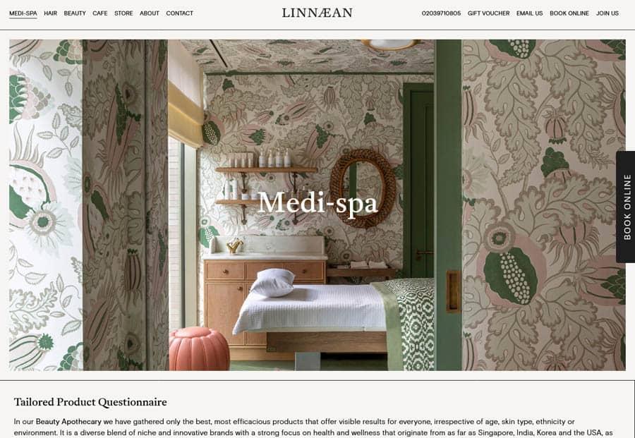 website design Linnaean Medi-spa