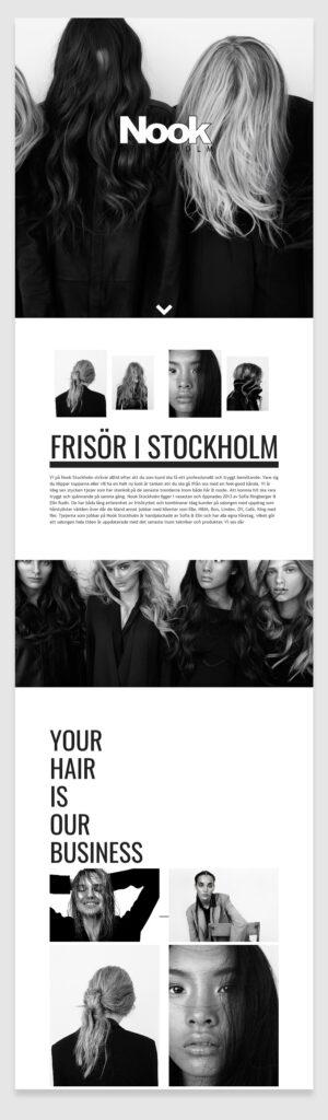 Nook Stockholm Hair Salon website