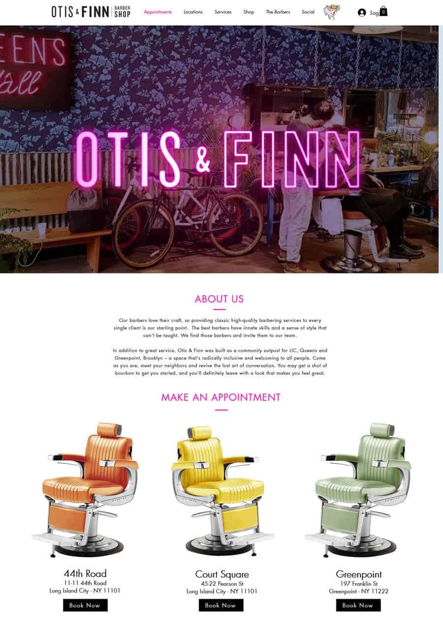 Website: Otis & Finn Barbershop