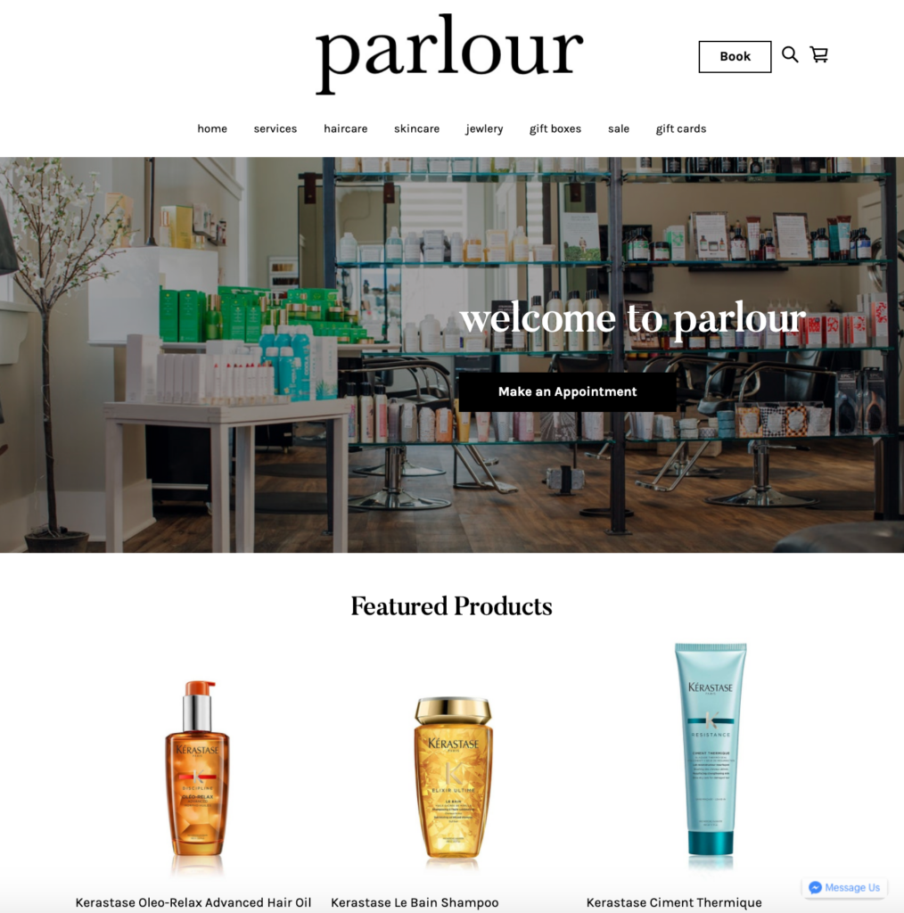 Parlour Square Online Store Example