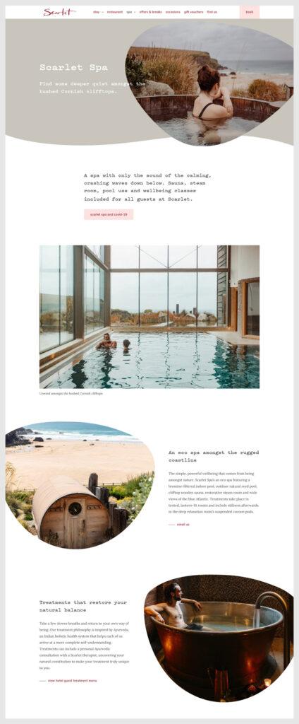 website design Scarlet Spa