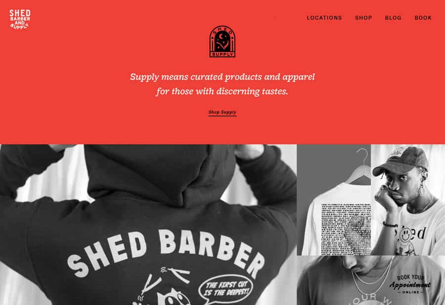 Website: SHED Barber and Supply