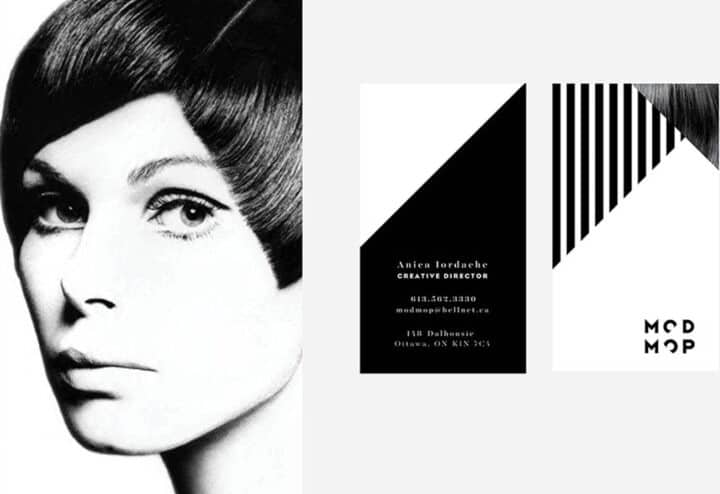 modmop hair salon branding