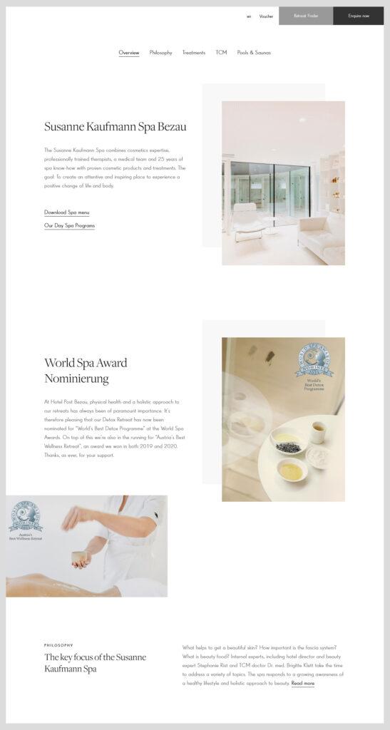 web design Susanne Kaufmann Spa Bezau