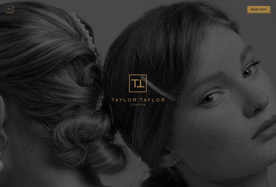 Taylor & Taylor - Hair salon website design example