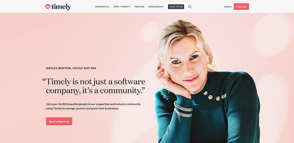 Timely - Image of website