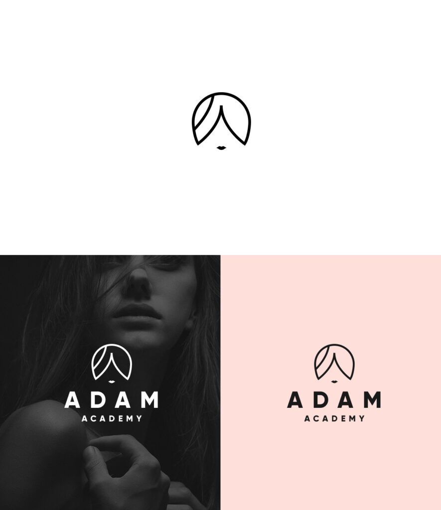 adam academy salon logo