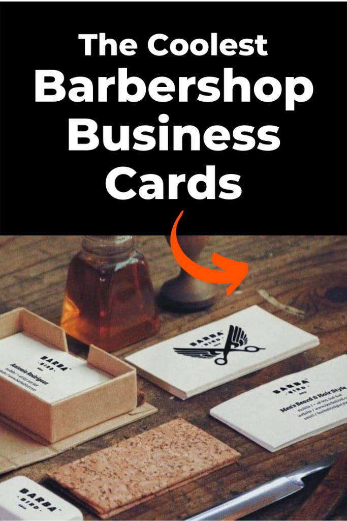 Barbershop business card ideas