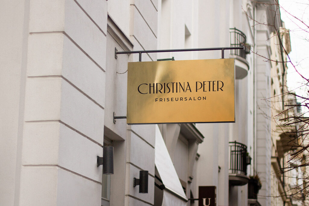 christina peter hair salon signage ideas