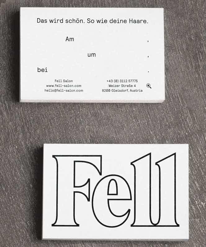 Cool salon business card design