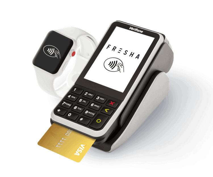 Fresha credit card terminal for salons