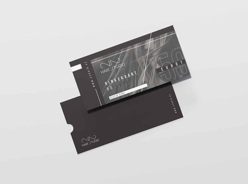 Hair studio business card holder