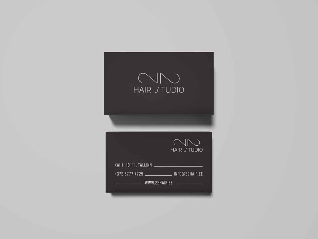 Hair studio business card