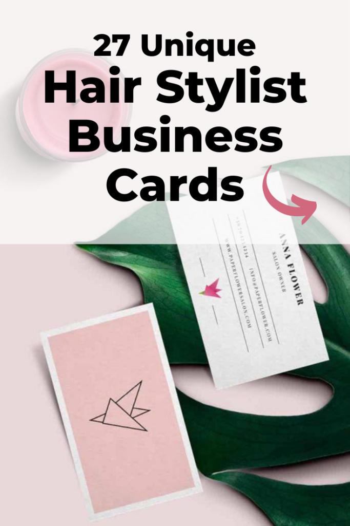 Hair stylist business cards