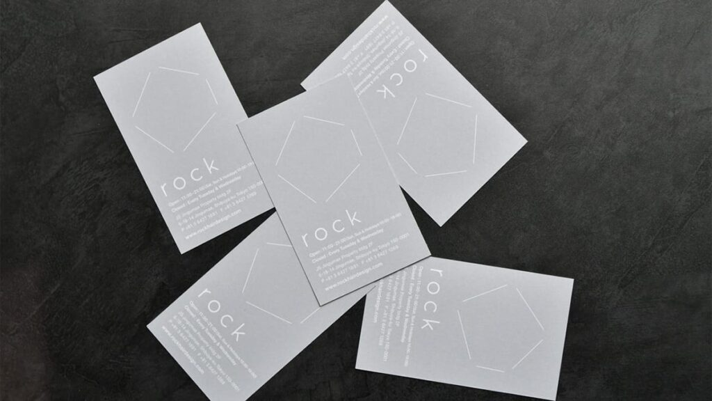 Cool business cards for salons