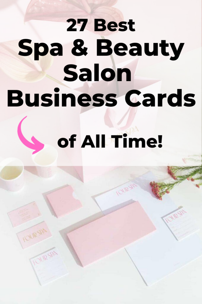 spa and beauty salon business cards