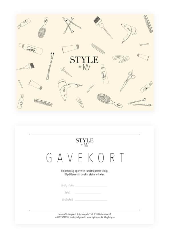 Hair Salon Business Card Design Idea