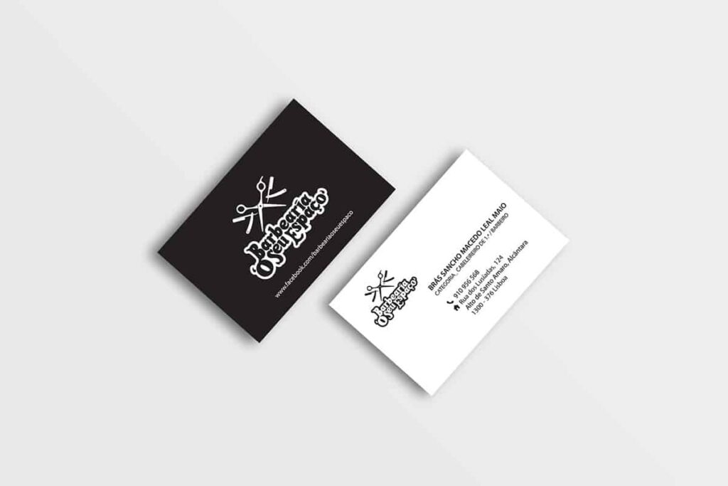 Black and white hair salon business cards