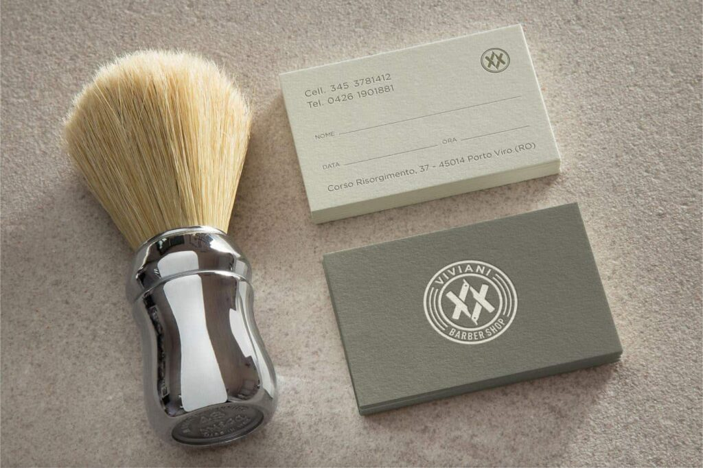 Barbershop business card design idea